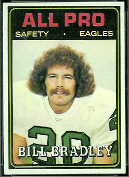 Bill Bradley All-Pro 1974 Topps football card