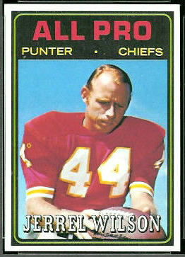 Jerrel Wilson All-Pro 1974 Topps football card