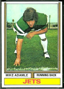 Mike Adamle 1974 Topps football card