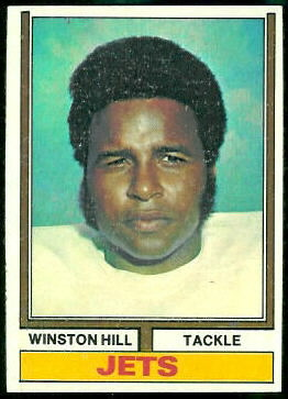 Winston Hill 1974 Topps football card