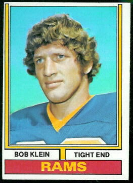 Bob Klein 1974 Topps football card