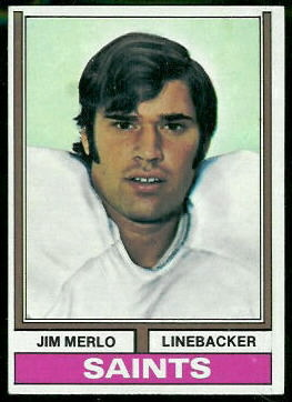 Jim Merlo 1974 Topps football card