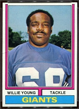 Willie Young 1974 Topps football card