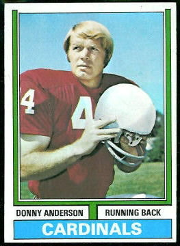 Donny Anderson 1974 Topps football card