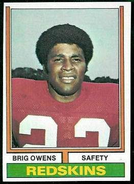 Brig Owens 1974 Topps football card