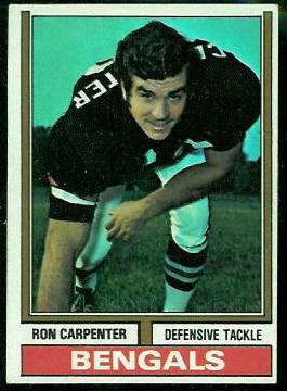 Ron Carpenter 1974 Topps football card
