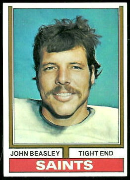 John Beasley 1974 Topps football card