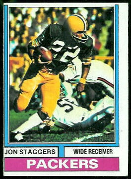 Jon Staggers 1974 Topps football card