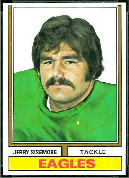Jerry Sisemore 1974 Topps football card