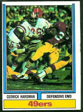Cedrick Hardman 1974 Topps football card