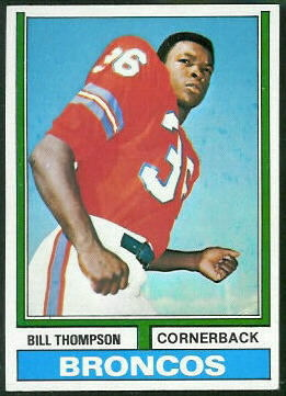 Bill Thompson 1974 Topps football card