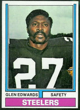 Glen Edwards 1974 Topps football card