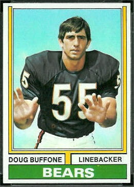 Doug Buffone 1974 Topps football card