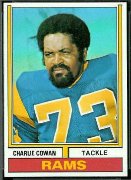 Charlie Cowan 1974 Topps football card