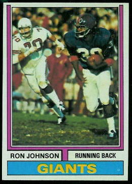 Ron Johnson 1974 Topps football card