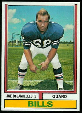 Joe DeLamielleure 1974 Topps football card
