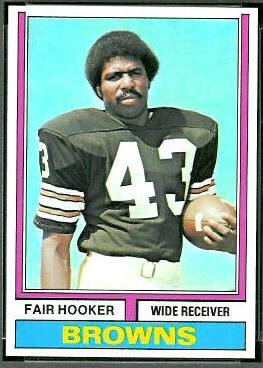 Fair Hooker 1974 Topps football card