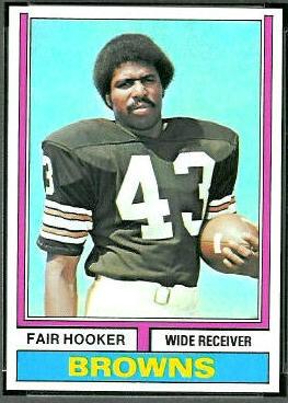 Fair Hooker 1974 Topps football card