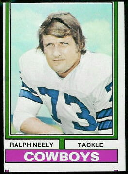 Ralph Neely 1974 Topps football card