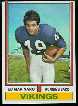 Ed Marinaro 1974 Topps football card