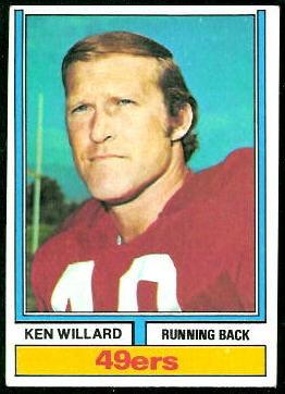 Ken Willard 1974 Topps football card