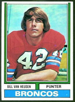 Bill Van Heusen 1974 Topps football card
