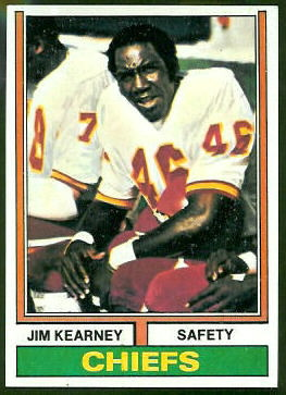 Jim Kearney 1974 Topps football card