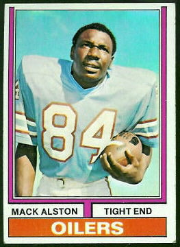 Mack Alston 1974 Topps football card