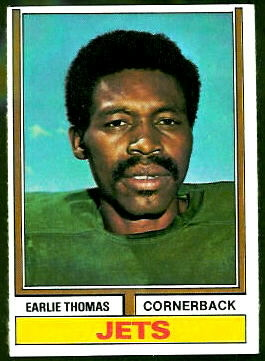 Earlie Thomas 1974 Topps football card