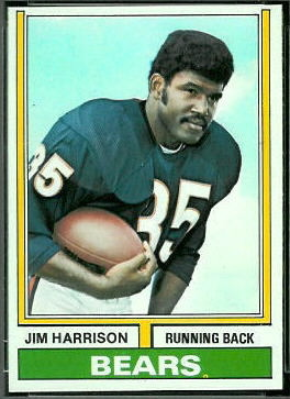 Jim Harrison 1974 Topps football card