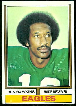 Ben Hawkins 1974 Topps football card