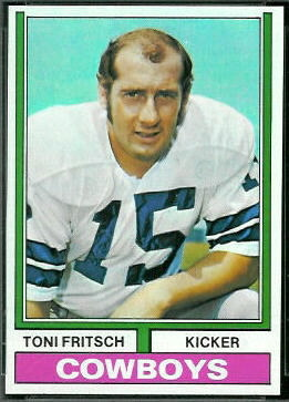 Toni Fritsch 1974 Topps football card