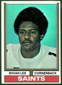 Bivian Lee 1974 Topps football card