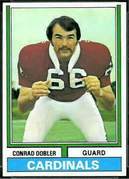 Conrad Dobler 1974 Topps football card