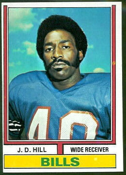 J.D. Hill 1974 Topps football card