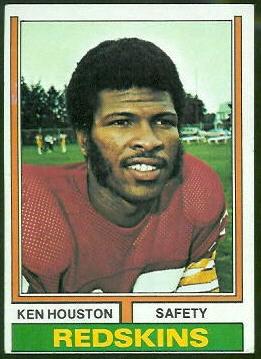 Ken Houston 1974 Topps football card
