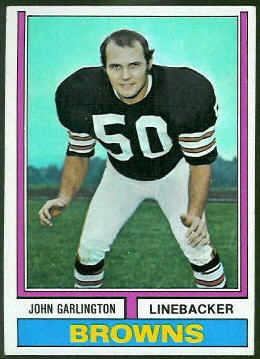 John Garlington 1974 Topps football card