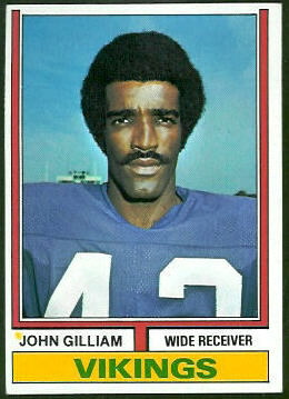 John Gilliam 1974 Topps football card