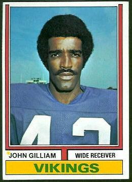 John Gilliam 1974 Topps football card