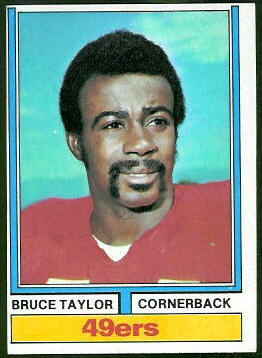 Bruce Taylor 1974 Topps football card