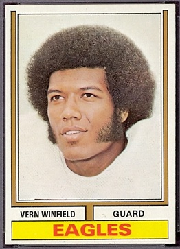 Vern Winfield 1974 Topps football card
