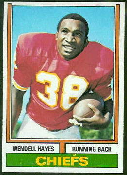 Wendell Hayes 1974 Topps football card