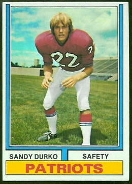 Sandy Durko 1974 Topps football card