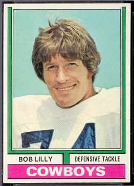 Bob Lilly 1974 Topps football card