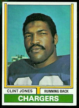 Clint Jones 1974 Topps football card