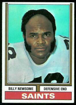 Billy Newsome 1974 Topps football card