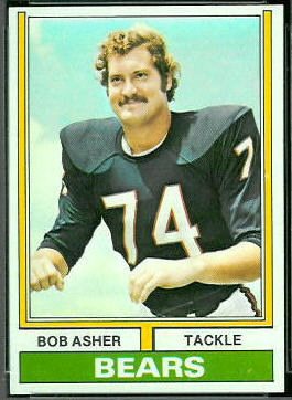 Bob Asher 1974 Topps football card