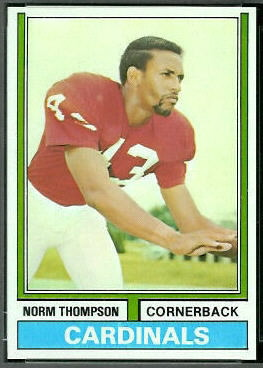 Norm Thompson 1974 Topps football card