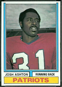Josh Ashton 1974 Topps football card