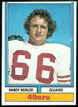 Randy Beisler 1974 Topps football card
